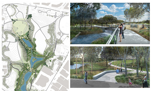 Sydbey Park Water Re-Use Proyject by Lead DesignerTurf Design Studio & Environmental Partnership with Alluvium