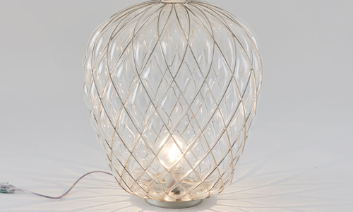 PINECONE, Table lamp transparente brillante