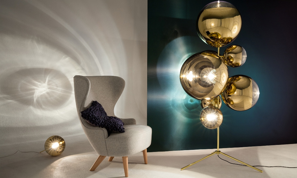 Mirror Ball Stand Chandelier por Tom Dixon