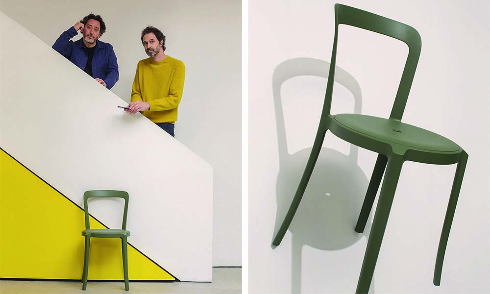 Barber & Osberby diseñaron On & On, una silla reciclable para Emeco