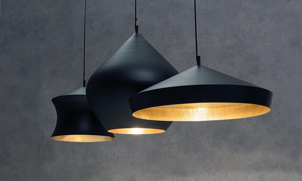 Beat Flat Pendant Black by Tom Dixon