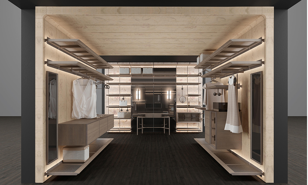 Reiwa Walk-in Closet by Giorgetti