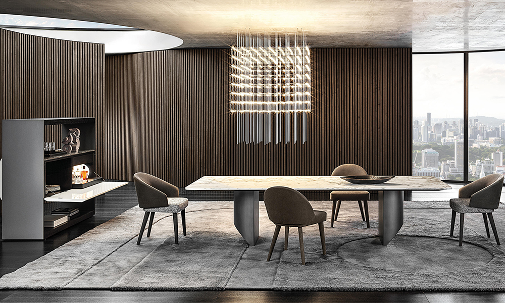 Wedge table by Minotti